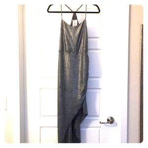 Authentic BCBG Generation Sexy metallic grey dress